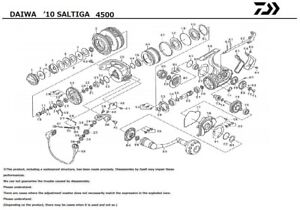 Daiwa '10 SALTIGA 4500 Parts Order-A