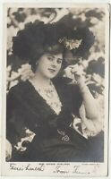 GAYNOR ROWLANDS - Actress - raising a glass - 1904 used real photo postcard