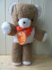 MOTHERCARE VINTAGE BROWN TEDDY BEAR 36CMS EXCELLENT WITH TAGS 0193 GREAT BRITAIN