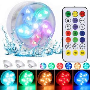 IP68 LED Poollicht RGB Poolleuchte Poollampe Schwimmbad Unterwasser Beleuchtung
