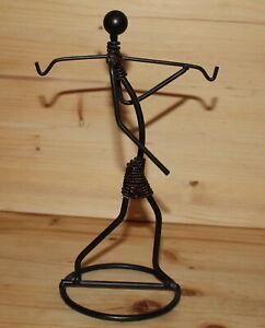 Vintage hand made abstract artwork metal figurine