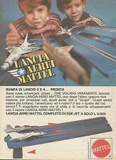 X7530 Lancia aerei Mattel - Pubblicità 1977 - Vintage Advertising