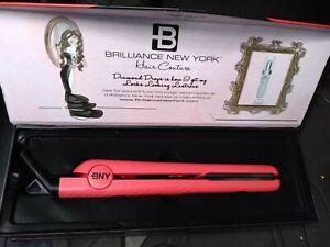 Brilliance New York 1.25 Inch Diamond Ceramic Flat iron Hair Straightener