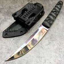 XHM 9.6'' Fixed Blade Knife Tactical Tanto Hunting Katana Bayonet Ninja Knives