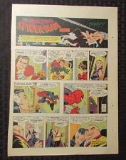 1977 Spider-Man Sunday Comic Strip 8/21/77 John Romita Fn Kingpin & Vanessa