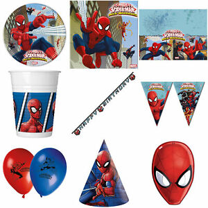 Spider-Man Party Supplies Plates Napkins Decoration Banners Bunting Party Bags