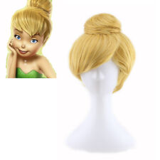 Fairy Anime Cosplay Hair Bun Wig Girls Masquerade Tinkerbell COS Synthetic Wigs
