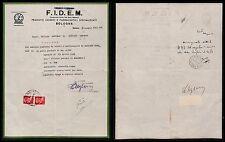 REGNO-Reclamo pacco postale FIDEM-Due 20 c imperiale(247) Bologna 14.6.1943