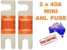 2 x 40AMP Mini ANL Fuse for Car Amplifier Wiring Kit Fuse Holders 40A - Midi AFC
