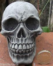 Small Skull - Stone Garden Ornament - Hand Cast -10 x 6 x 8 cms 608 grams