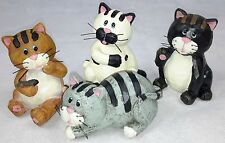 Cute Cats Decoration. Gift Ornament Figurine Statue (set of 4)