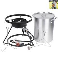 Backyard Pro 30 Qt. Turkey Fryer Kit with Aluminum Stock Pot and Accessories