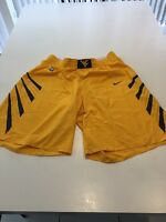 Game Worn Used West Virginia WVU Mountaineers Basketball Shorts Nike Size 44