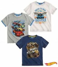 Hot Wheels Boys Short Sleeve T-Shirt  - White/ Grey/ Blue
