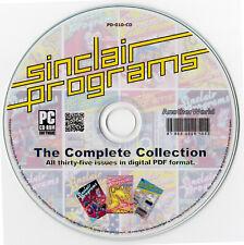 SINCLAIR PROGRAMS MAGAZINE Full Run on Disk Spectrum/ZX80/ZX81/16k Games/Typeins
