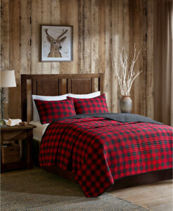 WOOLRICH SIZE FULL/QUEEN QUILT MINI SET COLOR RED NIP