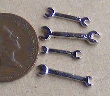 1:12 escala 4 llaves llaves de casa de Muñecas en Miniatura Accesorio de jardín conjunto de herramientas