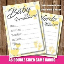 BABY SHOWER GENDER REVEAL PARTY Game, Baby Predictions words of Wisdom Cards 32