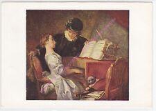 CP ART Postcard TABLEAU FRAGONARD la leçon de musique