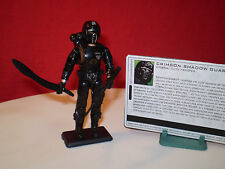 ARAH GI JOE COBRA 2005 EXCLUSIVE CRIMSON SHADOW GUARD ELITE TROOPER ARMY BUILDER