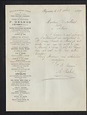"""BEZONNAIS prés ECOMMOY (72) USINE de BRIQUETERIE CARREAUX """"F. DESNOS"""" en 1889"""