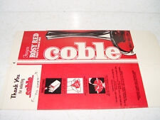 COBLE DAIRY 1 /2 GALLON ROSY RED PARTY PUNCH MIX CARTON UNUSED