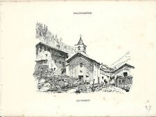 1880 FORNET BEAUREGARD veduta Valgrisenche Alpinismo Valle Aosta Gran Paradiso