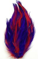 HACKLE FEATHER PAD - PURPLE/RED; Headband/Hats/Bridal