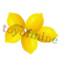 5 x Faux plastique mini citron jaune artificielle Fruit Home Party décor cuisine