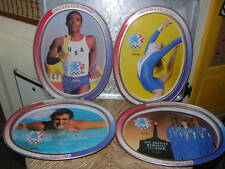 Vtg Los Angeles 1984 Olympics Commemoration TIN TRAY SET 4 McDonald's Keepsakes