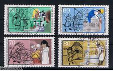 GERMANIA 4 FRANCOBOLLI PRO GIOVENTU PROFESSIONI JUGEND 1986 usato