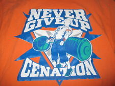 "WWE JOHN CENA ""Never Give Up Cenation"" (XL) T-Shirt ORANGE"