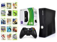 Microsoft XBOX 360 Konsole SLIM BLACK Kinect Ready + Controller + 1 Spiel