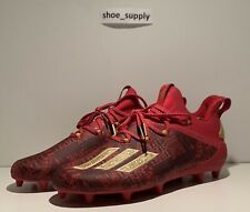 New listing Adidas Adizero New Reign Young King Cleats Size 9.5 Team Power Red ef8607