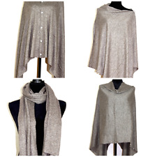 Poncho Cashmere Cape Wrap Pashmina Shawl Women Scarf Blanket Buttoned Cardigan