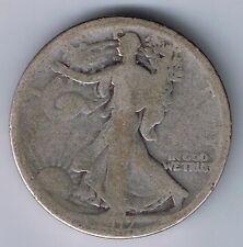 1917 S Walking Liberty 90% Silver Half Dollar 50 Cent Coin World War One Relic