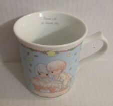 Enesco Precious Moments 1994 Come Let Us Adore Him Baby Jesus Manger Cup Mug