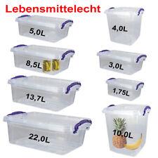 Stapelbox Lagerbox Aufbewahrungsbox Box mit Deckel Tragegriff LEBENSMITTELECHT