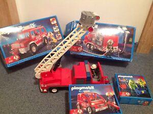 💥3182💥3177🔥Konvolt playmobil Rüstfahrzeug Leiterwagen Feuerwehr