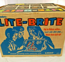 Vintage Lite-Brite 1973 With Box Works MIssing Pegs