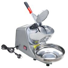 Electric Ice Crusher Shaver Machine Snow Cone Maker 65KG/H 1450R/MIN Commercial