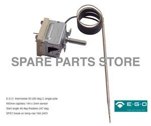 Smeg 50-280deg SPST Oven Thermostat P/N 818731157 EF55.17059.210 Genuine EGO
