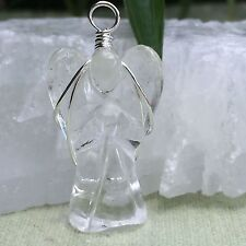 Clear Quartz Pendant Clear Quartz Angle Pendant Wire Wrapped Angel Heal Crystal