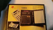 Cobra desk solar calculator very rare Nib circa 1985 no pen