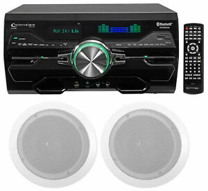 """Technical Pro DV4000 4000w Home Theater DVD Receiver+(2) 6.5"""" Ceiling Speakers"""