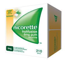 Nicorette 6mg Fruit Fusion Nicotine Gum 210 Pieces