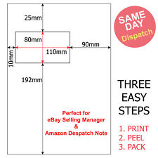 100x A4  S17 SM /& SMP Integrated Labels Sticky Address Peel Off Invoice 100X150