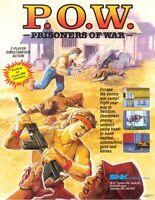 POW Prisoners Of War Arcade FLYER Original NOS Video Game Art Print 1988 SNK