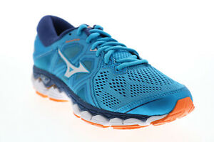 Mizuno Wave Sky 2 FLVR806B021 Womens Blue Mesh Lace Up Athletic Running Shoes 8