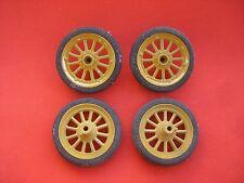 z 815/   4 x Schuco Rad = Reifen auf Felge  / für Blechspielzeug Auto Oldtimer